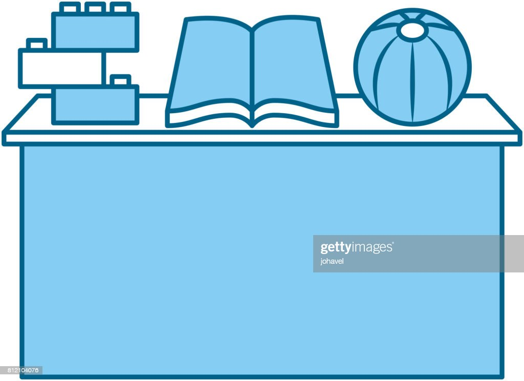 school desk with book isolated icon
