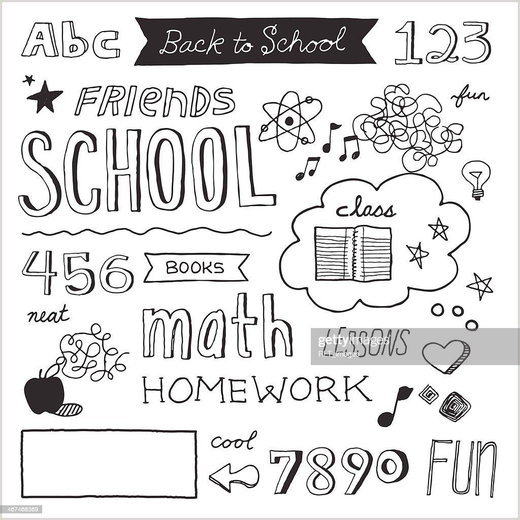 School Doodles — Vector Elements