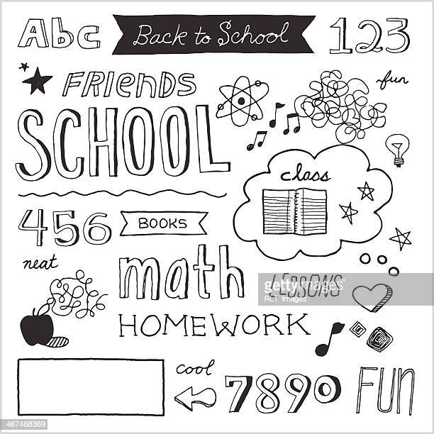 School Doodles — Vector Elements