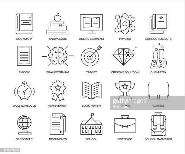 School Education Icon Set