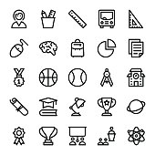 School, Education, Stationery, Office Vector Icons 2