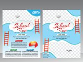 School fun flyer & magazine design template