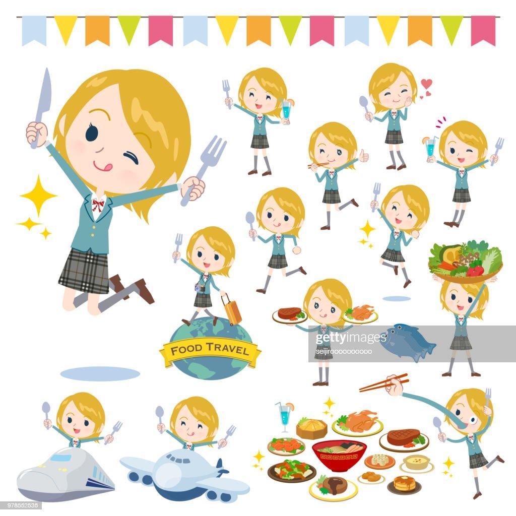 School girl White_food festival