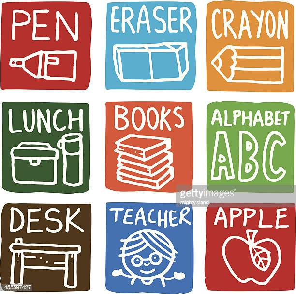School icon blocks