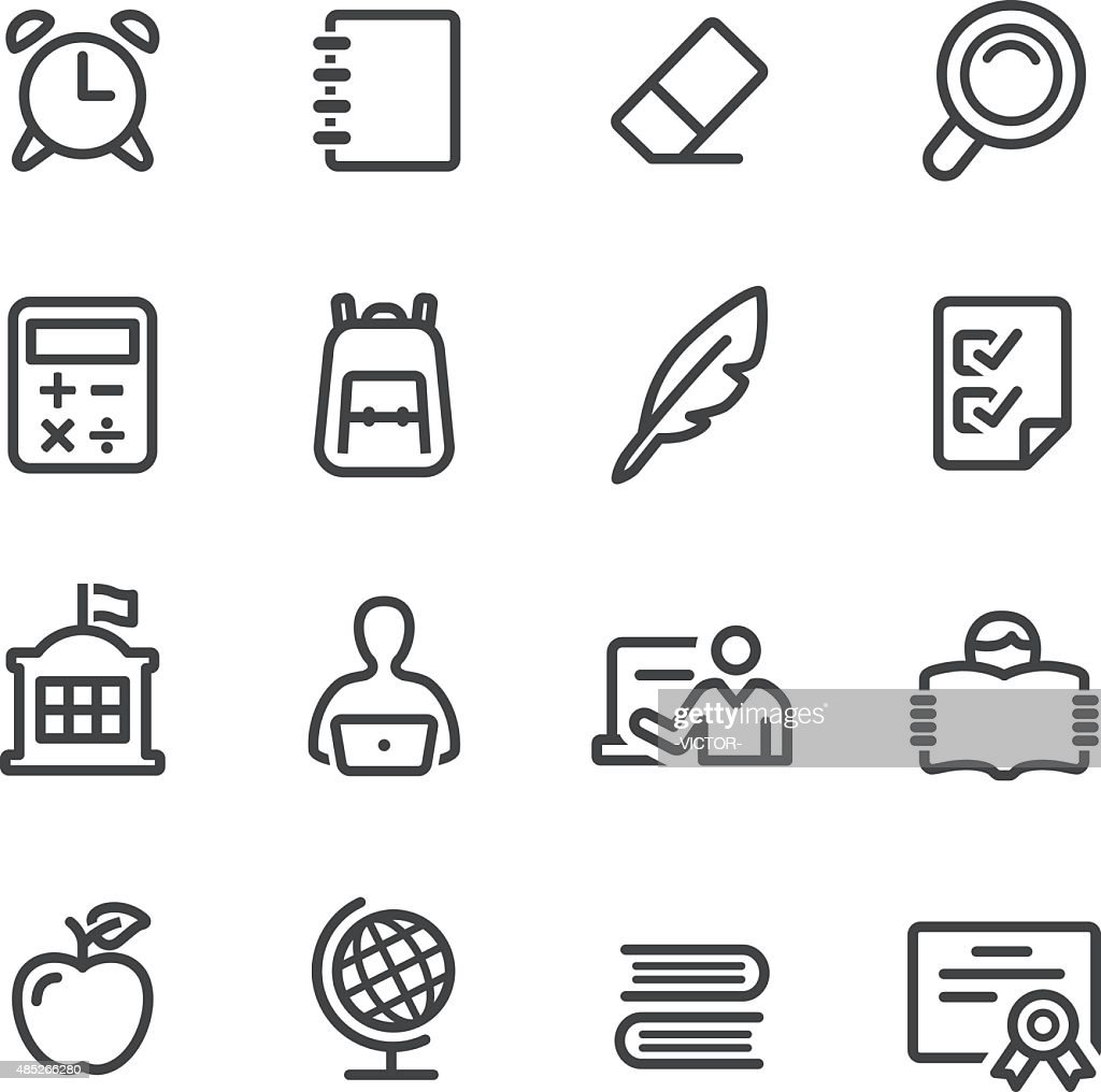 School Icons - Line Series