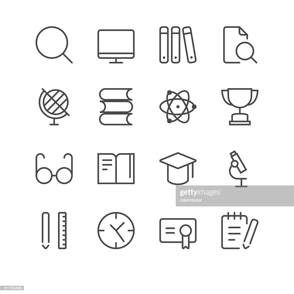 School Icons set 2 | Black Line series