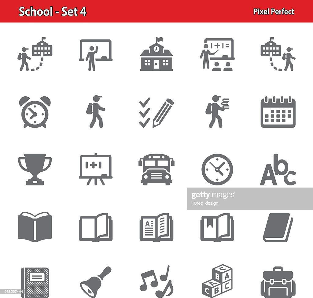 School Icons - Set 4