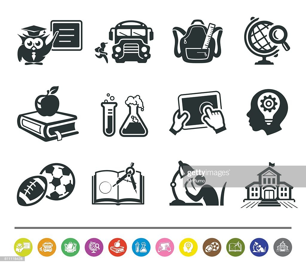 School icons | siprocon collection