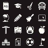 School Icons | White Series