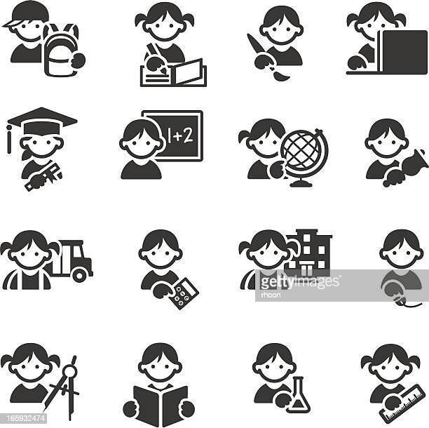 School KIds Education icons