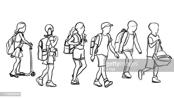School Kids Walking