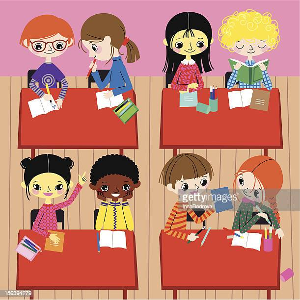 school life. - 8 9 years stock illustrations, clip art, cartoons, & icons
