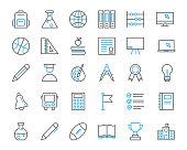 school line icon set illustration vector,school line icon set illustration vector