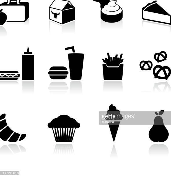 school lunch black and white royalty free vector arts