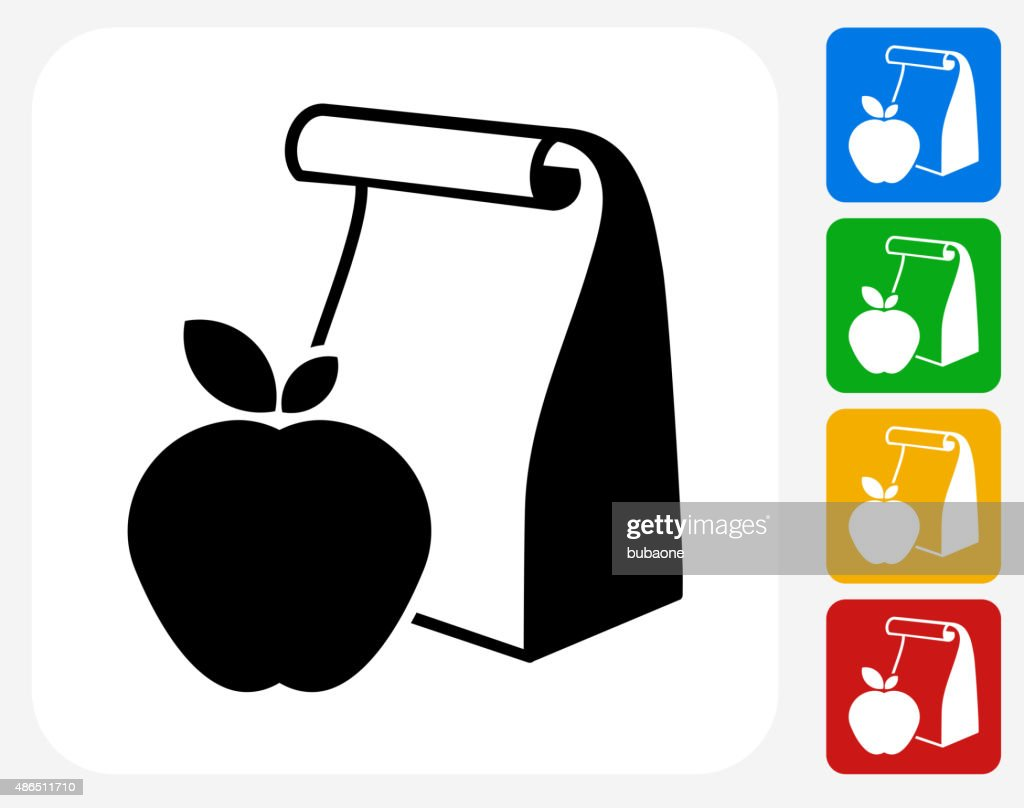 School Lunch Icon Flat Graphic Design