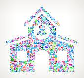 school on educational royalty free vector art Pattern