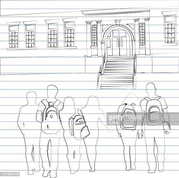 School Paper Drawing