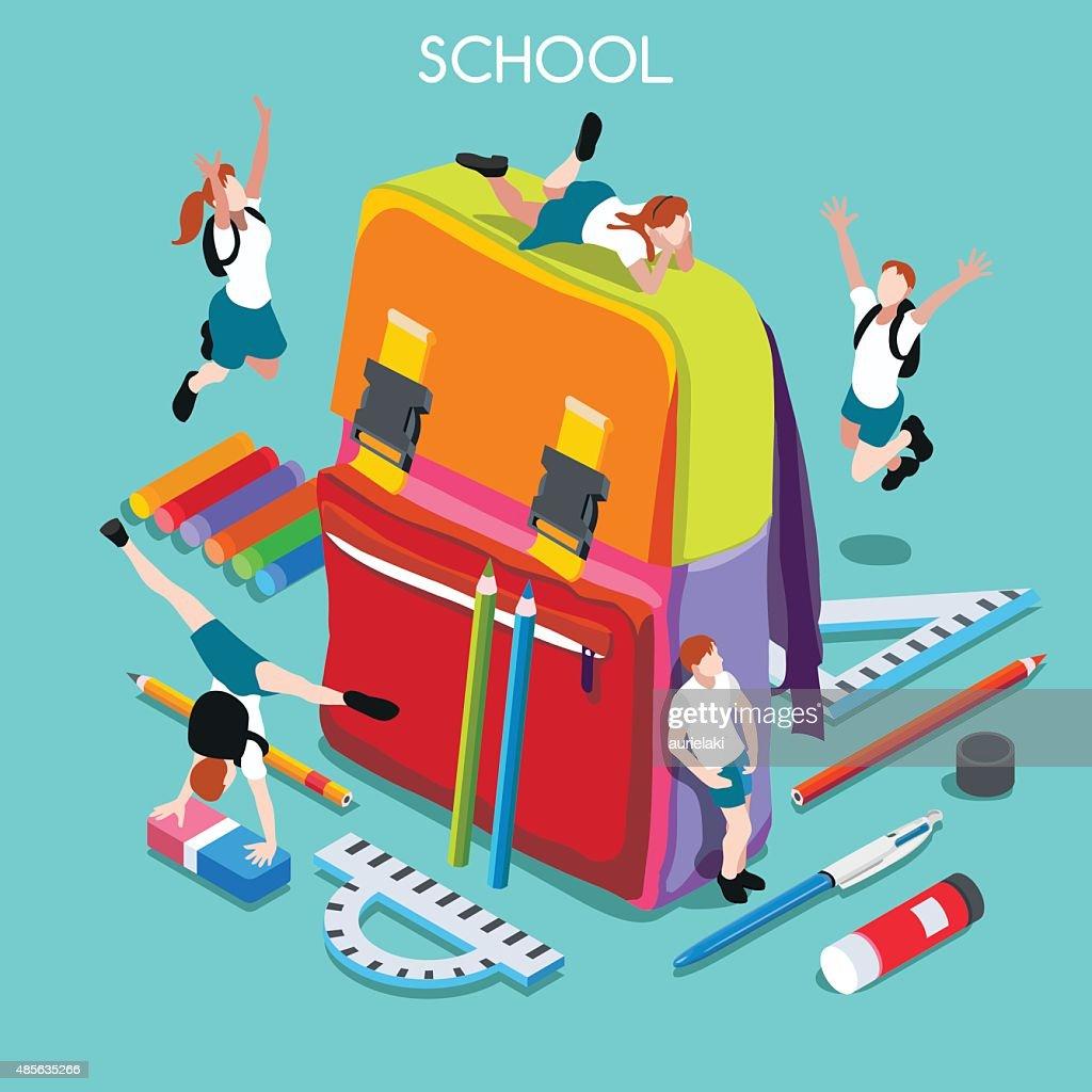 School Set 01 People Isometric