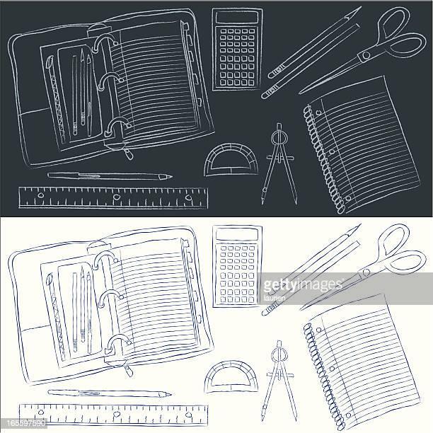 school supplies - protractor stock illustrations, clip art, cartoons, & icons