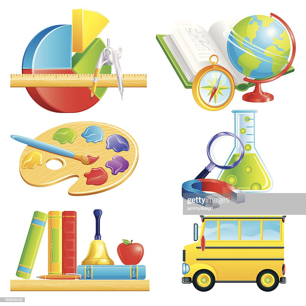 School symbols and subjects vector art getty images school symbols and subjects vector art buycottarizona Image collections