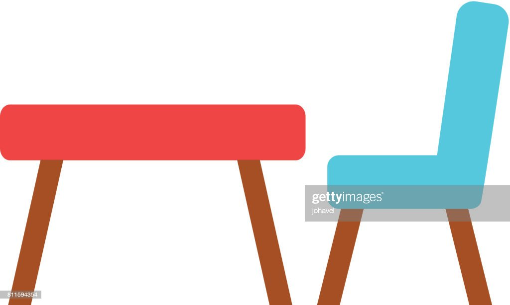 school table isolated icon
