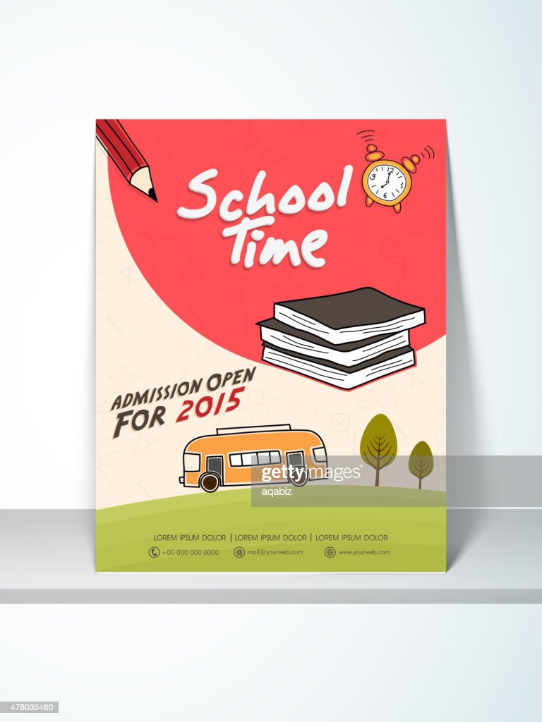 School Time flyer, template or banner.