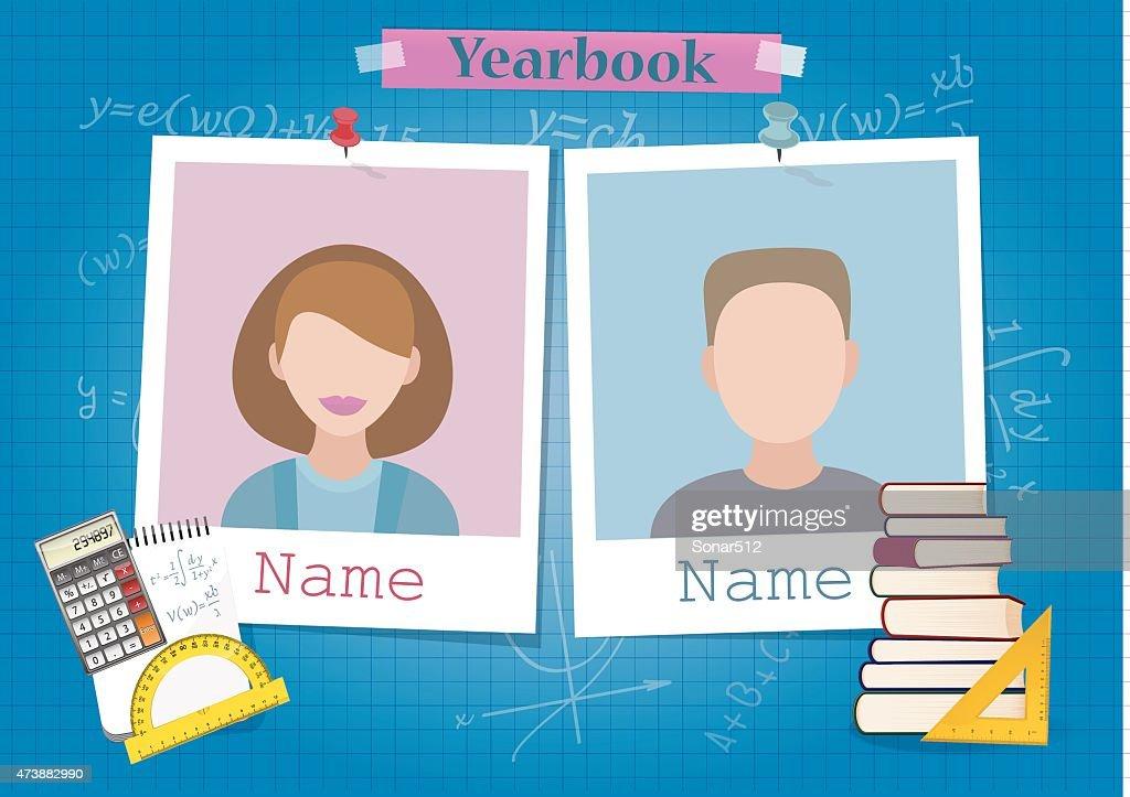 School yearbook and mathematics theme