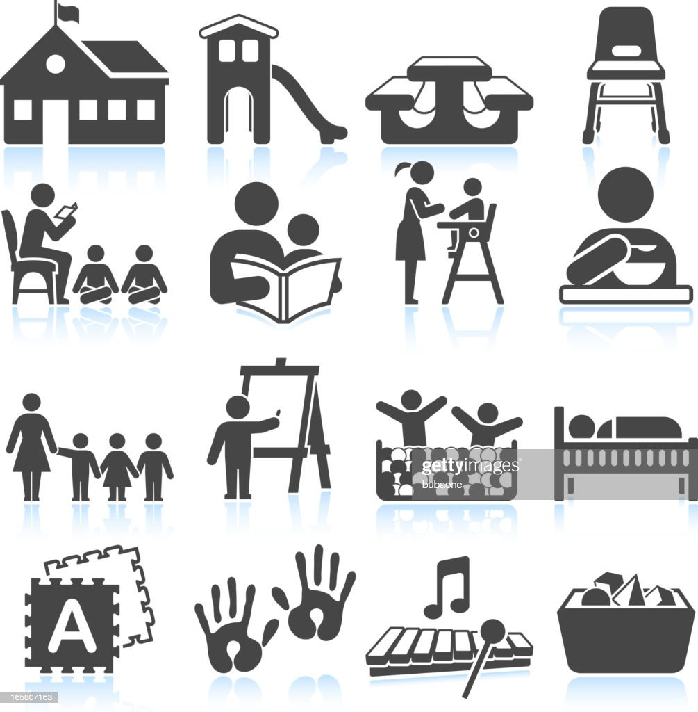School-themed graphics on white background : stock illustration