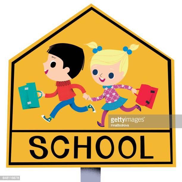 School-Zone traffic sign