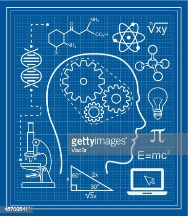 Science and education blueprint vector art getty images malvernweather Choice Image