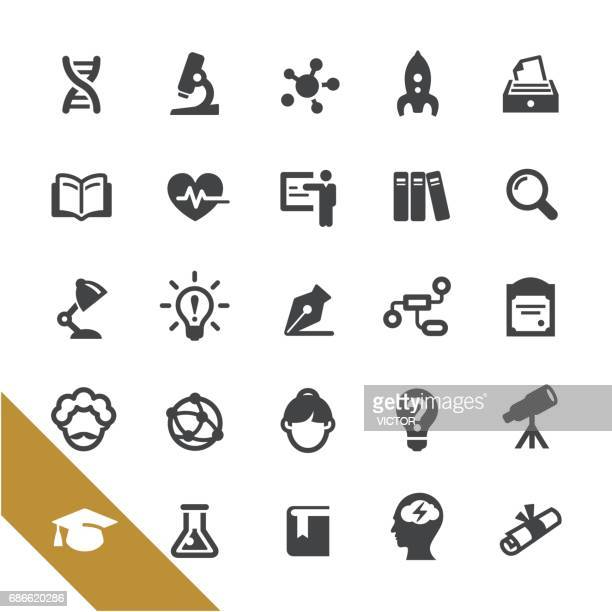 science and education icons - select series - encyclopaedia stock illustrations, clip art, cartoons, & icons