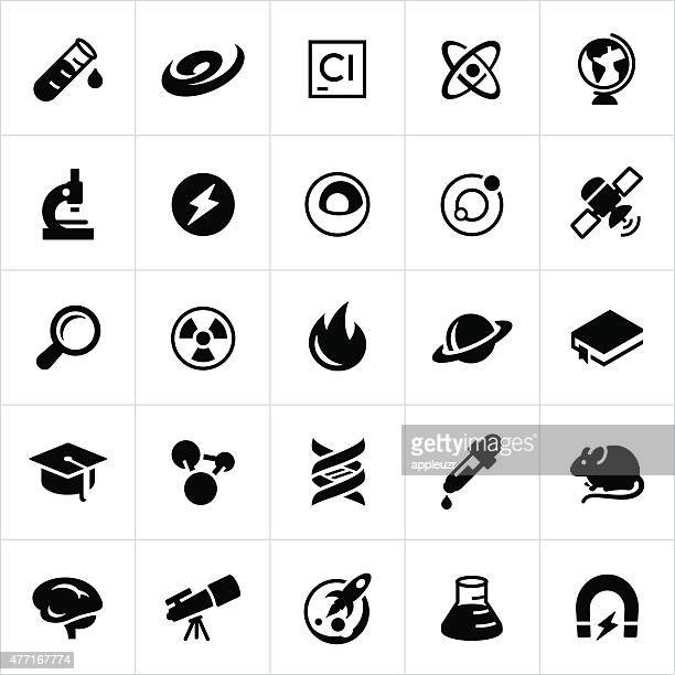 science and research icons - nucleus stock illustrations, clip art, cartoons, & icons