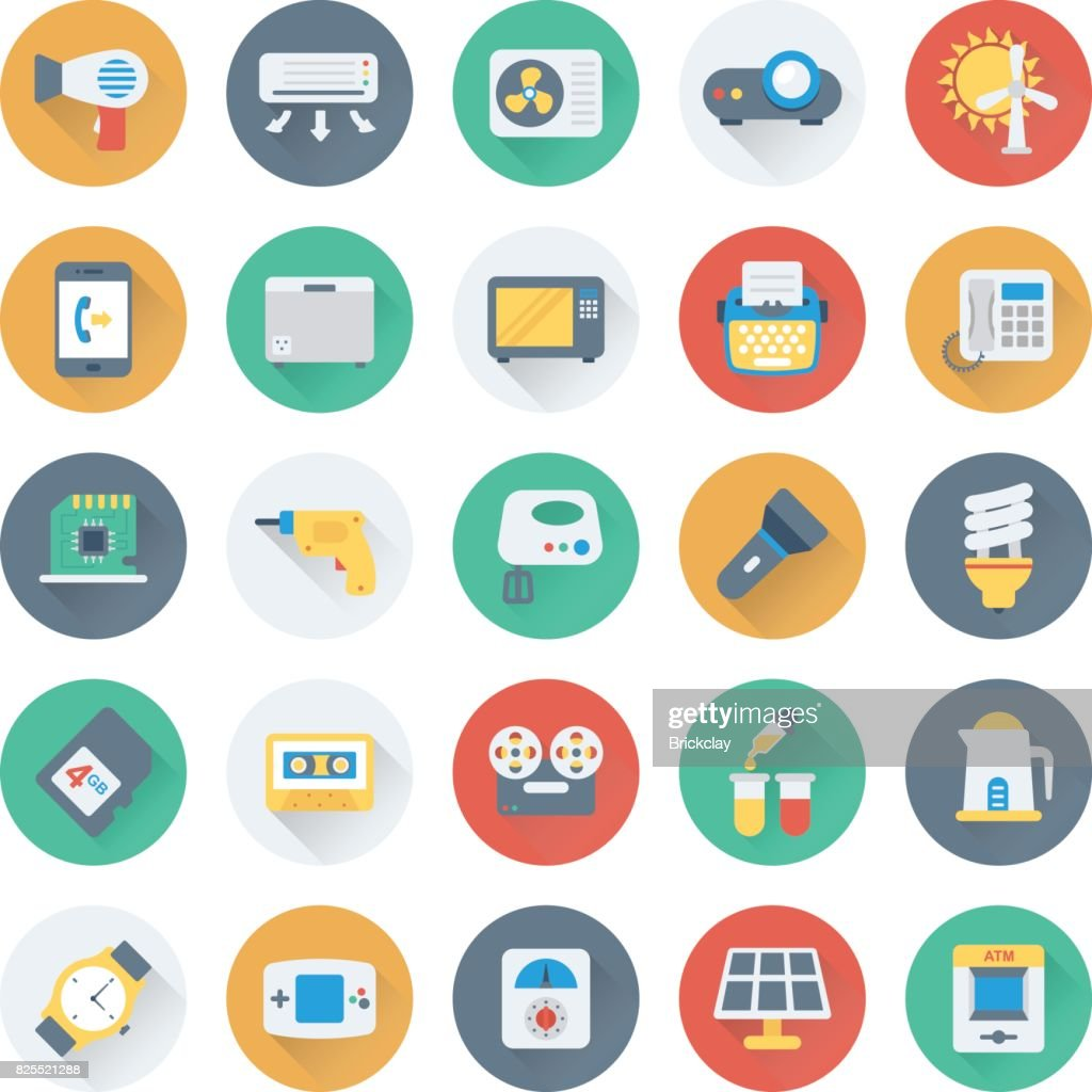 Science and Technology Colored Vector Icons 10