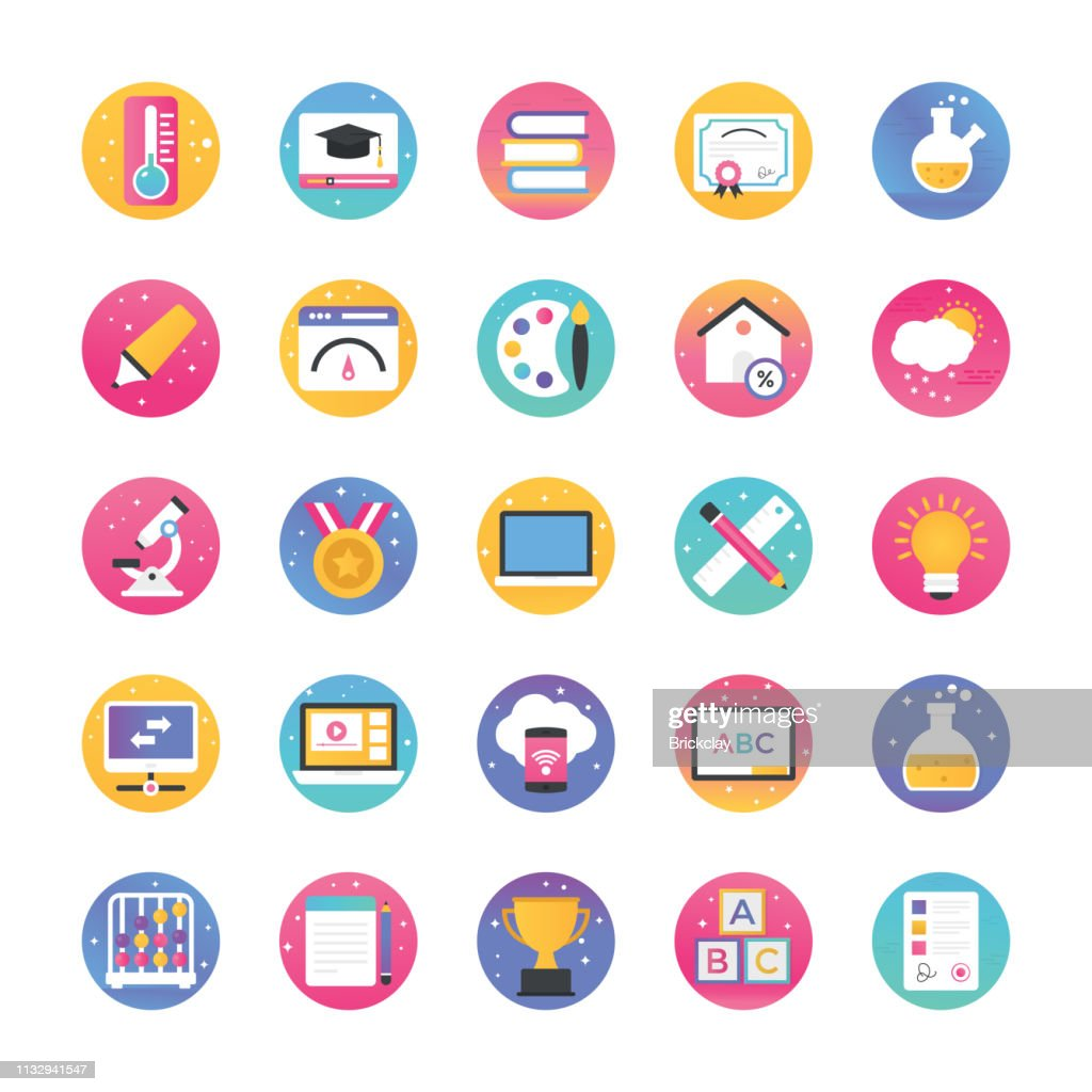 Science And Technology Flat Icons