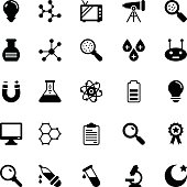 Science and Technology Glyph Vector Icons 5