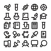 Science and Technology Line Vector Icons 2