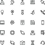 Science and Technology Line Vector Icons 3