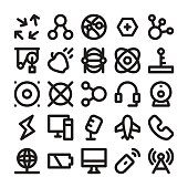 Science and Technology Line Vector Icons 6