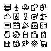 Science and Technology Line Vector Icons 7