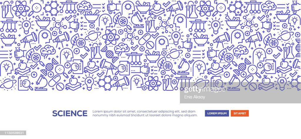 Science Banner : stock illustration
