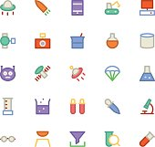 Science Colored Vector Icons 6