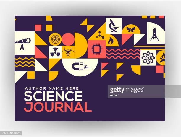 ilustraciones, imágenes clip art, dibujos animados e iconos de stock de diseño de la cubierta de la ciencia - cultura juvenil