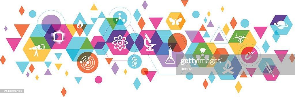 Science design : Stockillustraties