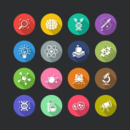 Science Flat Icon Set - gettyimageskorea