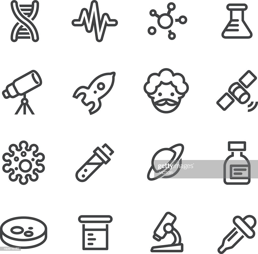 Science Icon - Line Series : stock illustration