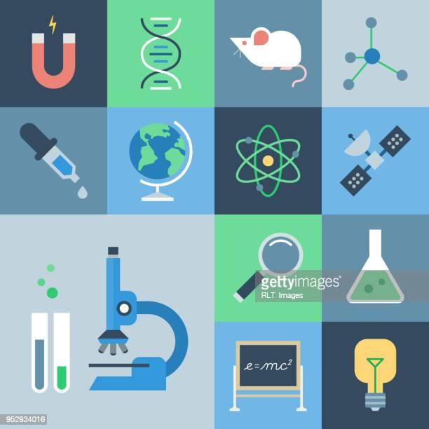 Science Icon Set — Grid Series
