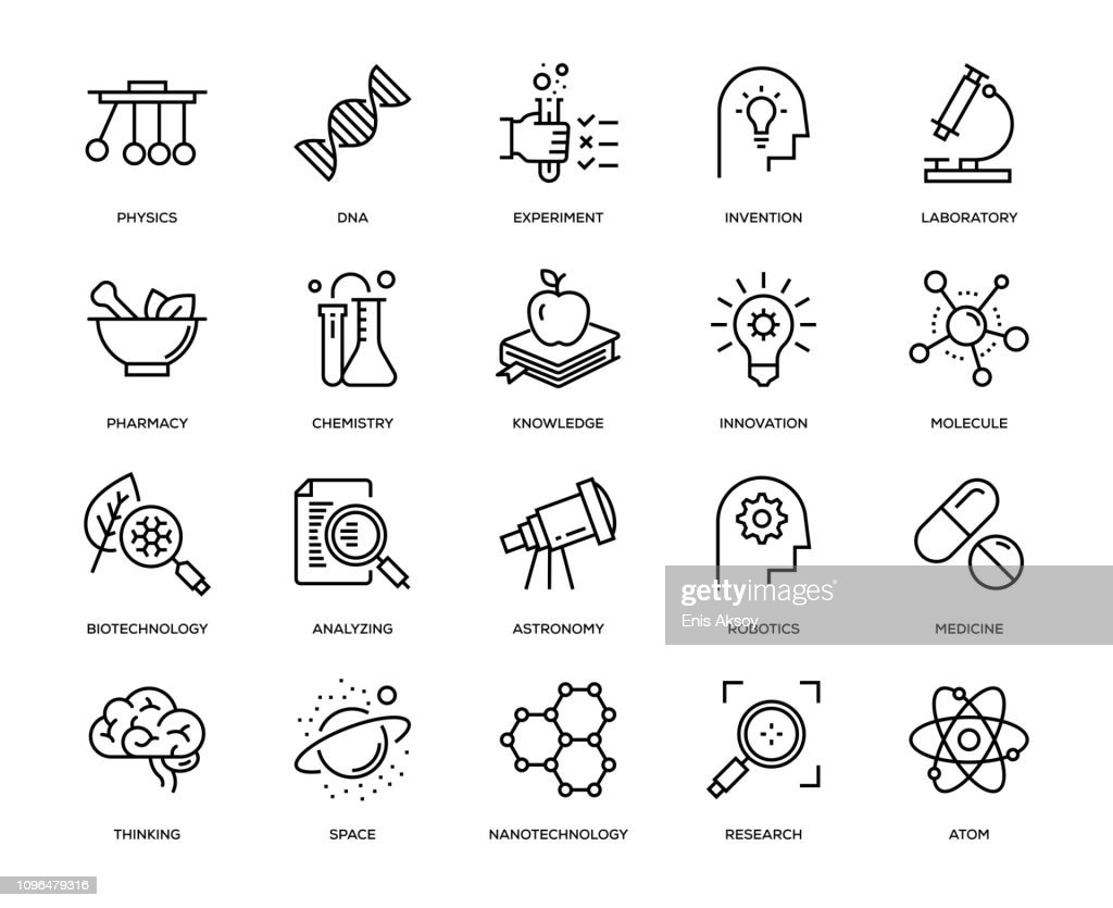 Science Icon Set : Illustration