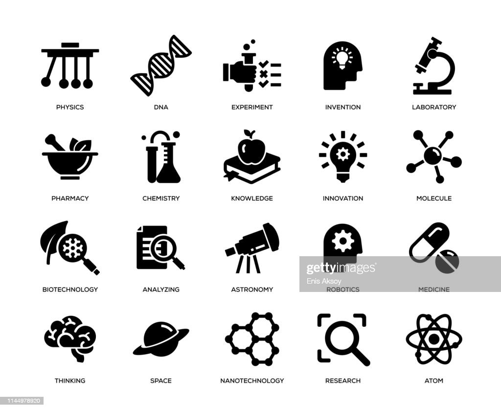 Science Icon Set : stock illustration