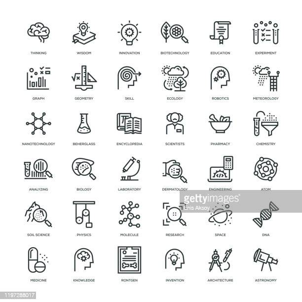 science icon set - health care professional stock illustrations