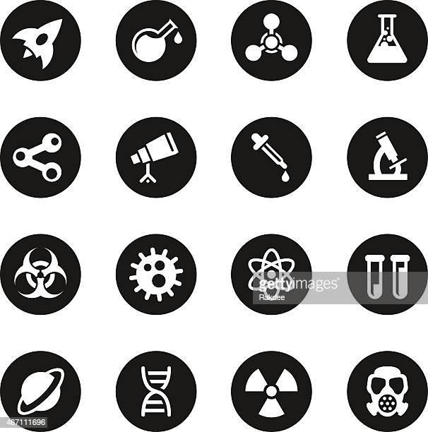 Science Icons - Black Circle Series